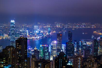 香港の夜景(ビクトリアピーク)