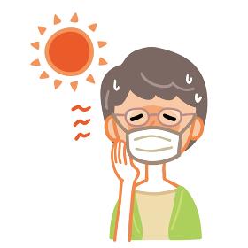 熱中症 おばあちゃん マスク