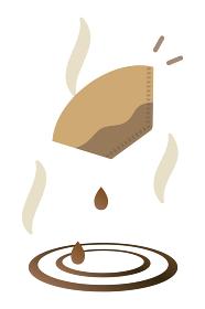 コーヒーフィルターと水滴