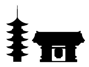東京ランドマークシルエットイラスト (浅草寺)