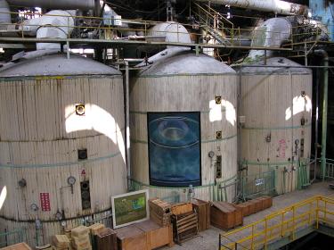 台湾糖業博物館(高雄)の、自由に見学出来る工場跡