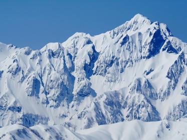 後立山唐松岳からの剱岳