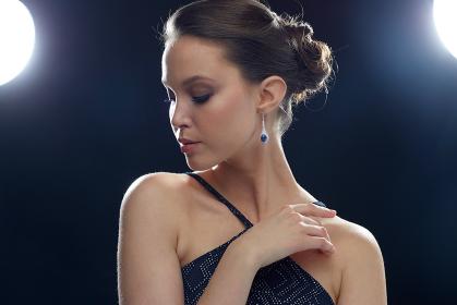 beautiful young asian woman with earring