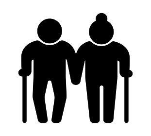 老夫婦・老人・高齢者・高齢化社会・老後の生活 アイコン