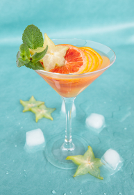 cold cocktail with blood orange