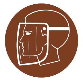 mask head respiratory virus protection safe brown illustration