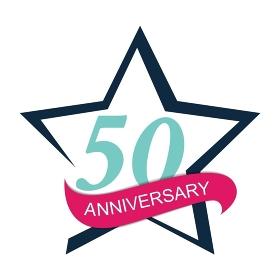 Template Logo 50 Anniversary Vector Illustration EPS10. Template Logo 50 Anniversary Vector Illustration