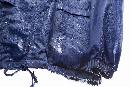 雨に濡れた雨具
