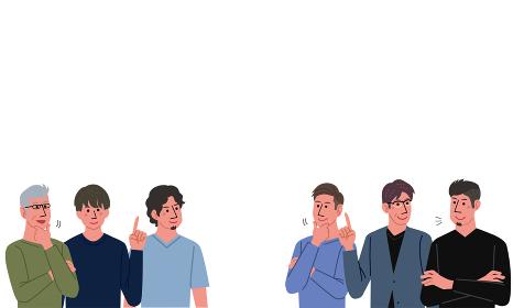 いろいろな世代の男性 イラスト