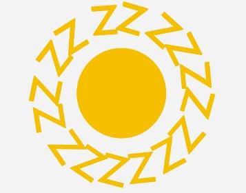 Zが並ぶ黄色の太陽