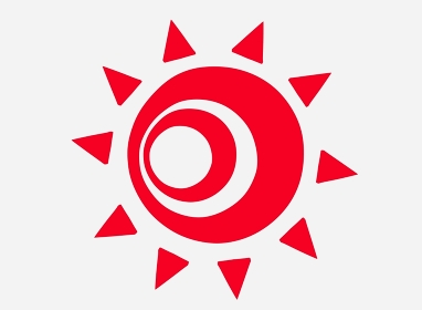 不気味な赤い太陽