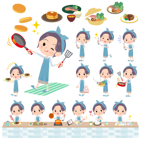 hairband apron mom_cooking