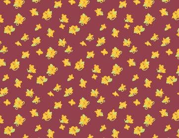 オレンジ色の小花柄 金木犀