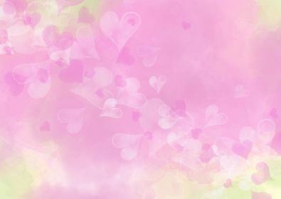 舞い上がるハッピーな桜色ハート