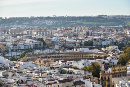 ヒラルダの塔からの眺望、セビリア大聖堂、スペイン