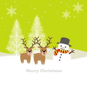 クリスマスのシームレスな背景イラスト