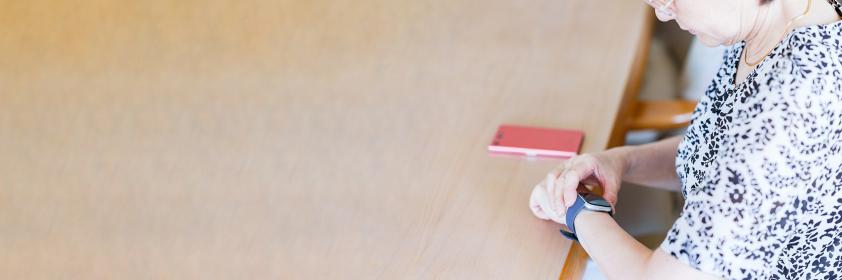 スマートウォッチ 健康管理 シニア 【 アクティブシニア の イメージ 】