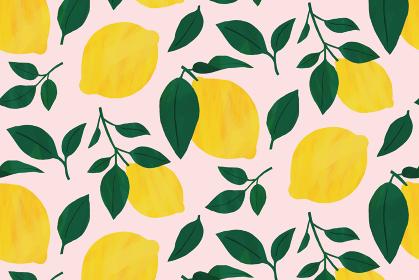 レモン 背景 パターン 素材 ピンク