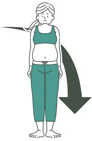 肥満女性の身体 低下 2色