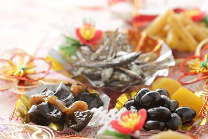 お正月のおせち料理の素材イメージ