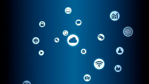 テクノロジー アイコン ネットワーク シンボル インターネット デジタル デバイス 3D イラスト