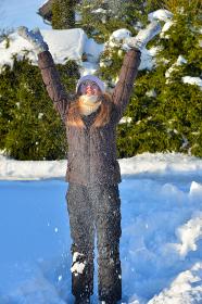 girl in snow winter