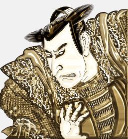 浮世絵 歌舞伎役者 その16 金バージョン