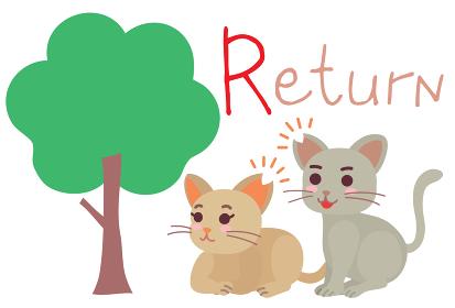 地域猫TNRの説明イラスト Return