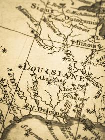 古地図 アメリカ・ルイジアナ