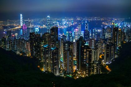 香港のビクトリアピークの夜景