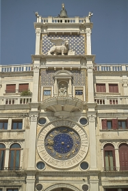 The clock tower in Venice