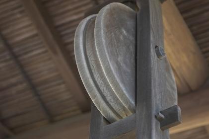 釣瓶井戸の滑車