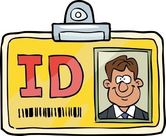 Cartoon doodle id identification card vector illustration