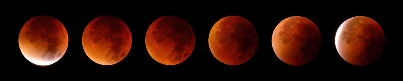 total lunar eclipse in 6 phases,september 2015