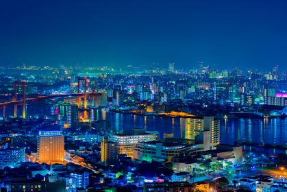 高塔山公園から見る北九州の都市夜景