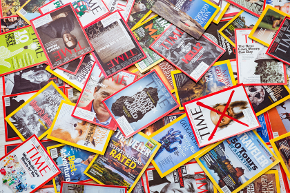New York - MARCH 7, 2017: US magazines on March 7 in New York, USA. There are over 1000 various magazines published in US. New York - MARCH 7, 2017: US magazines on March 7 in New York, U