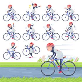 flat type Arab women White Sportswear_road bike
