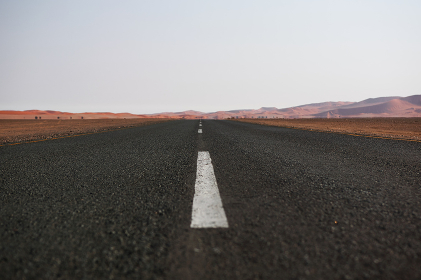 A empty road to nowhere