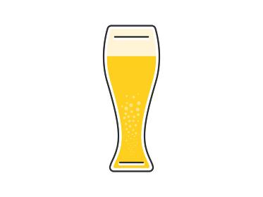 ビアグラスに入ったビールのイラスト