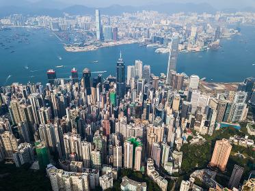 Victoria Peak, Hong Kong 3 November 2017:- Hong Kong skyscraper