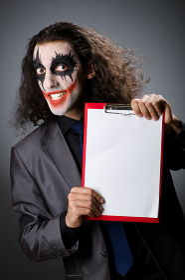 Funny Joker with paper binder