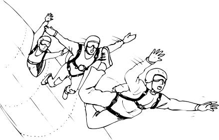 スカイダイビング