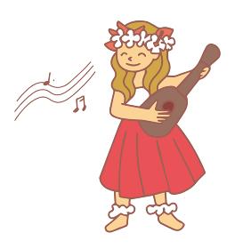 HulaGirl_ウクレレ演奏