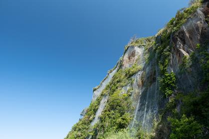 千葉県鋸山の崖