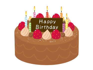 誕生日ケーキ チョコレートケーキのイラスト