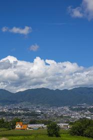 長野県飯田市 下久堅からみる飯田の遠景