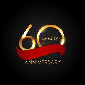 Template 60 Years Anniversary Vector Illustration EPS10. Template 60 Years Anniversary Vector Illustration