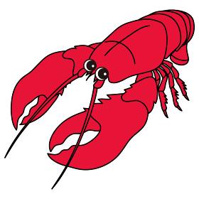 ロブスター lobster オマール海老 キャラクター イラスト