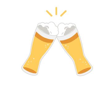 ビール 乾杯 ヴァイツェングラス 線無し