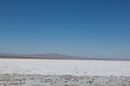 Salt flats on Route 66, California, USA